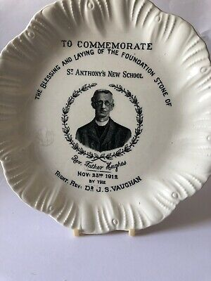 Laying Of Foundation Stone St Anthony's School 1912 Commemorative Plate • 5£