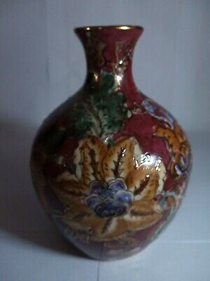 Stunning Hand Painted Pottery Vase UK Sell Only • 10£