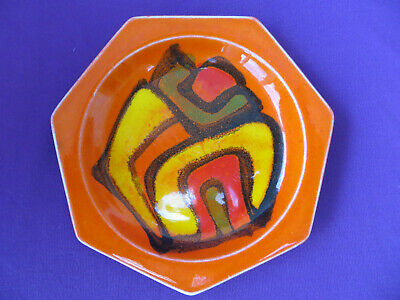 Poole Pottery Delphis 7 Sided Pin Dish Plate 1970s Shape No. 42 Boxed • 6.75£