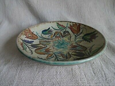 Vintage Denby Glyn Colledge Decorative Hand Painted Pottery Bowl 10.5  Dia • 9.99£