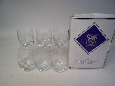 Edinburgh Crystal - The Continental Collection - 6 X Tumblers - Brand New • 14.99£