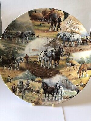 Through Field And Furrow - Large Royal Doulton Plate • 8£