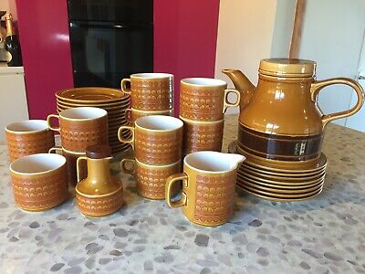Hornsea Saffron 38 Piece Tea Coffee Set 1970s Retro Pottery • 20£