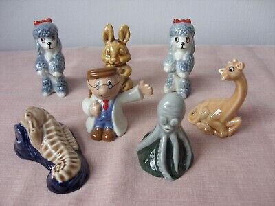 7 Wade Whimsies Figures All Good Condition • 15£