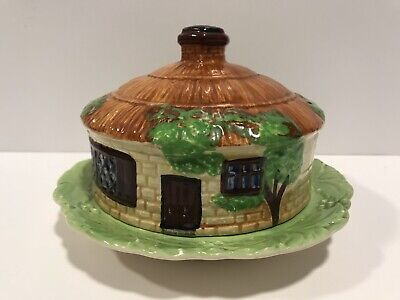 Beswick Ware Presevation Dish - Thatched Roof Cottage For Butter, Cheese Etc.. • 39.99£