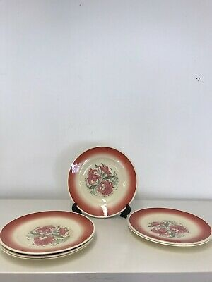 6 Susie Cooper 19.5cm( 8 1/4 Inch) Tiger Lily Side Playes • 9.99£
