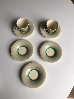 Pair Of Susie Cooper Cups & Saucers (coffee) E481 With 3 Extra Saucers • 20£