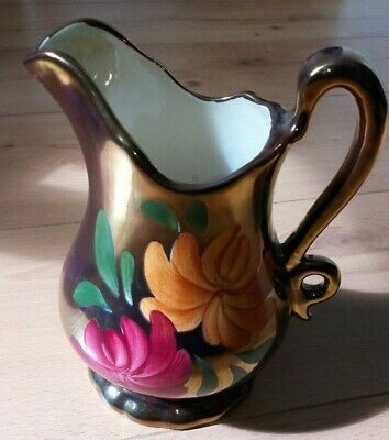 Oldcourt Ware Copper Lustre Jug - Hand Painted Staffordshire - 17 Cm Height • 14.99£