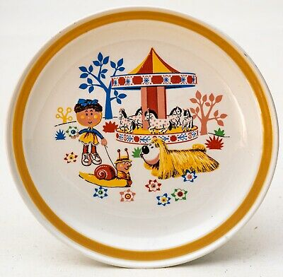 Vintage Child's Magic Roundabout Breakfast  Carrigaline Pottery 1974 Plate  • 12.95£