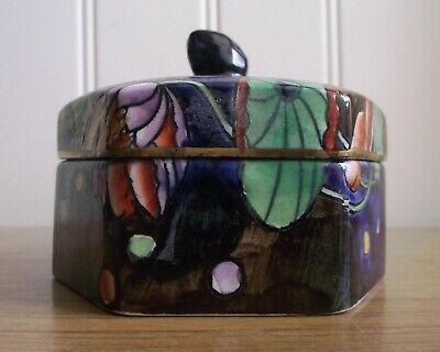 A RARE C1920s CORONA WARE 'WATER LILY' LIDDED POT HAND PAINTED BY MOLLY HANCOCK  • 19.99£
