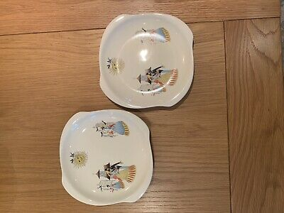 A Pair Of Beswick Happy Morn Tea Plates / Side Plates - 6 Inches • 0.99£