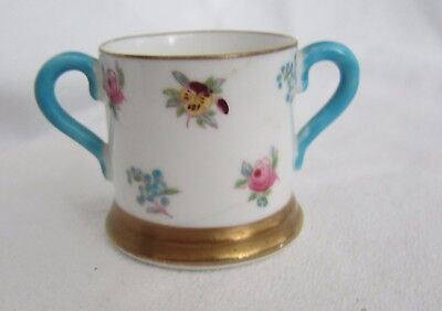 Antique Crown Staffordshire Miniature Loving Cup  1906 Rose Pansy Pattern • 10£