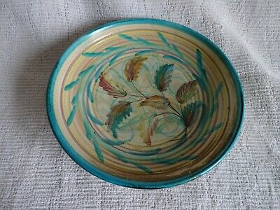 Vintage Denby Glyn Colledge Decorative Hand Painted Pottery Bowl 21cm Dia • 4.99£