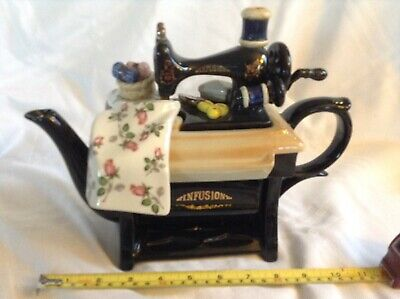Cardew Novelty Collectable Lge Teapot Infusion Sewing Machine Perfect Condition • 24£