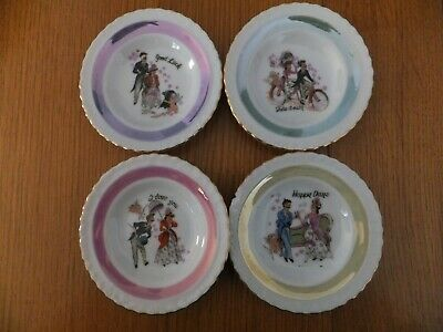 Set Of Four Small Porcelain Plates • 1.60£