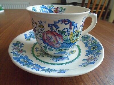 MASONS BLUE STRATHMORE 4 CUPS SAUCERS And TEA PLATES. • 16£