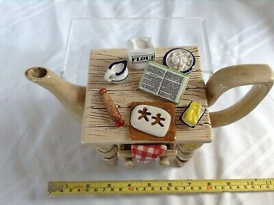 Cardew 1987 South West Ceramics Large Collectable Novelty Teapot Gingerbread • 22£