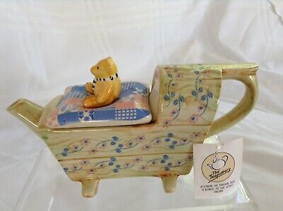 Teapottery Swineside Novelty Collectable Teapot Bear In A Cradle Great Condtion • 22£