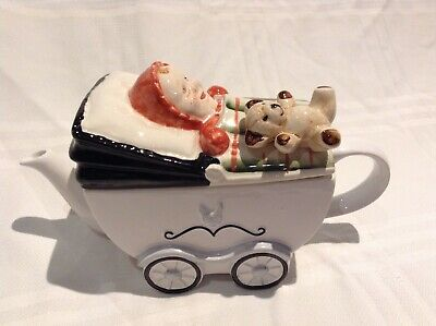 Price Kensington Collectable Novelty Lge Teapot Baby,teddy Pram Great Condition • 22£