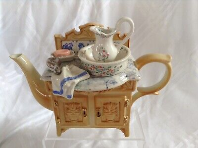 Cardew Novelty Collectable Lge Teapot Victorian Vanity Unit Perfect Condition • 34£