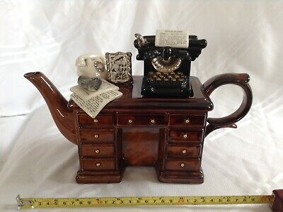 Cardew Novelty Collectable Lge Teapot Crime Desk Murder Perfect Condition • 38£