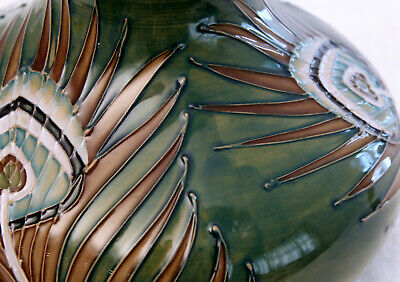 Superb Large Moorcroft Pottery Peacock Feather Vase Designed By Sally Tuffin • 179.99£