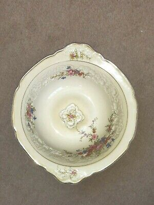 RARE CROWN DUCAL FLORENTINE MARIE10  TUREEN WITH LID EMBOSSED FLORAL 1930s • 32.97£