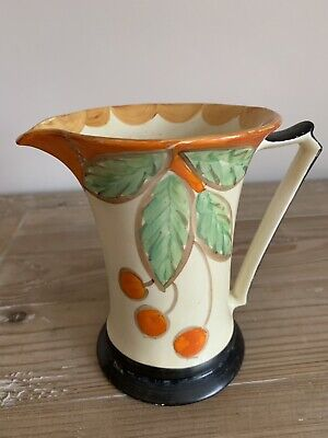 Vintage Deco Myott Son & Co Hand Painted Porcelain Jug • 30£