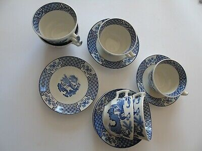 Wood & Sons 'Yuan'  Six Cups And Saucers • 10£