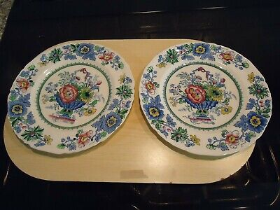 Two Masons Ironstone  Strathmore  Pattern Plates,22 Cms Diameter,c4792 • 7£