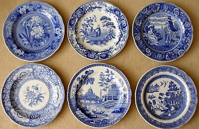 The Spode Blue Room Collection 10 Inch Plates (six) • 69.99£
