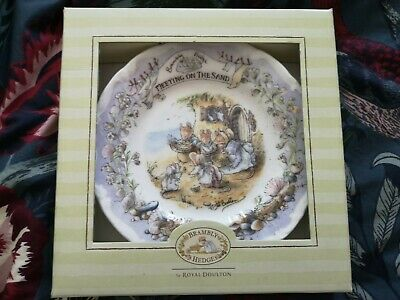 Royal Doulton Bramley Hedge  Meeting On The Sand  Plate • 15£