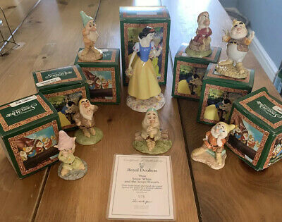 Limited Edition Royal Doulton Snow White And The Seven Dwarfs • 250£