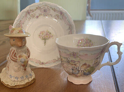 Royal Doulton 'The Wedding'  Brambly Hedge Cup Saucer And Figurine Set • 18£