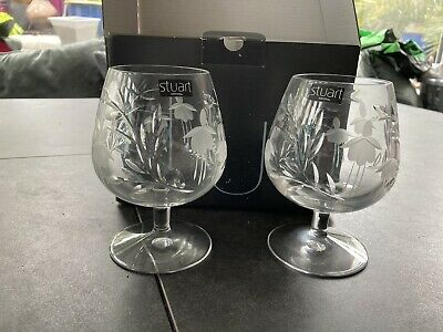 Stuart Cascade Brandy Glasses • 10.50£