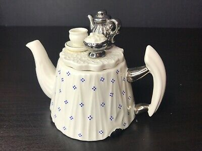 Paul Cardew Royal Albert One Cup Tea Table Ceramic Teapot. Size Small 10cm • 29.99£