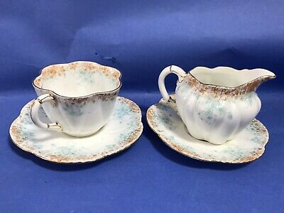 Foley Wileman China Tea Set Dainty Pattern Cup And Saucer Duo Creamer Milk Demi • 4.99£