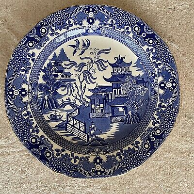 Vintage Burleigh Ware Willow Plate Blue Ware Porcelain • 3.70£