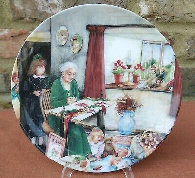Royal Doulton   Old Country Crafts - The Embroideress   Plate • 2.99£