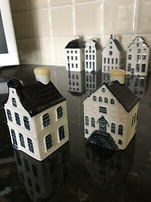 2 Blue Delft Unopened Pottery Houses No 4 And 5  (2012) • 2.50£