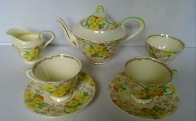 Tuscan Plant Fine China Floral Pattern Tea For Two Tea Set VGC • 26£