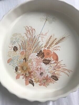 Summer Glory Flan Dish Poole England Oven To Tableware • 1.99£