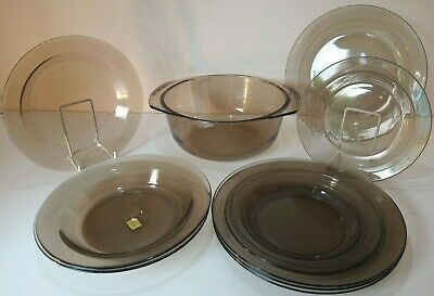 Vintage ARCOROC Smoked Glass Spares - Cups/Saucers/Plates/Bowls - Choose   • 9.95£