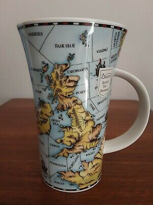 Dunoon Shipping Forecast Tall Mug By Jane Goodwin Map Of Uk Sea • 19.99£