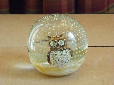 Joe St. Clair Brown Owl Paperweight Controlled Bubbles EXC • 62.16£