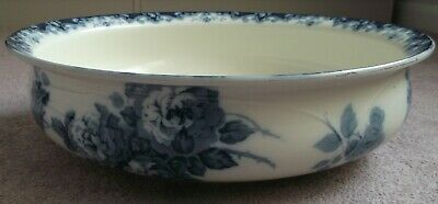Antique Large Blue & White Wash Bowl Albion Pottery- Bourne & Leigh Rose Design • 15£