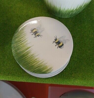 New Studio Poole Bees Coasters 70mm  Hand Painted And Finished • 9.99£