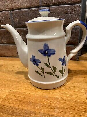 Lovely Painted Stoneware Coffee Pot VGC • 4.50£