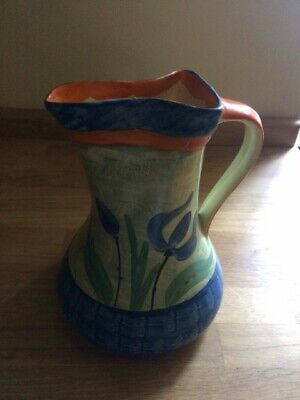 Myott Son And Co. Art Deco 1930s Pinch Neck Handpainted Jug Pattern Number 8388  • 12£