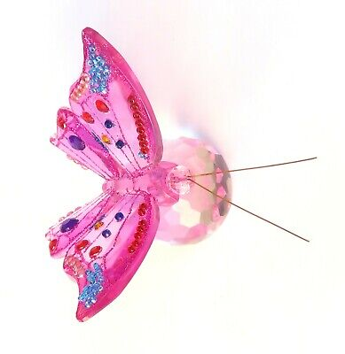 Pink Butterfly Ornament 7 CM • 8£